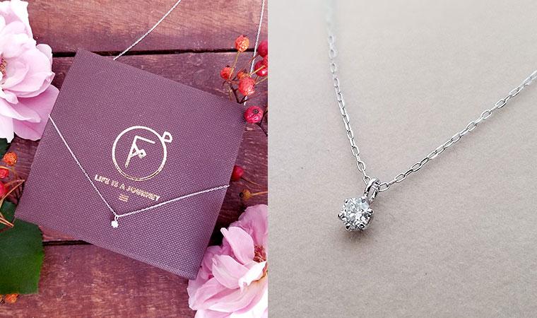 アクセサリーブランド「F」で一番人気「K10ダイヤモンドネックレス」