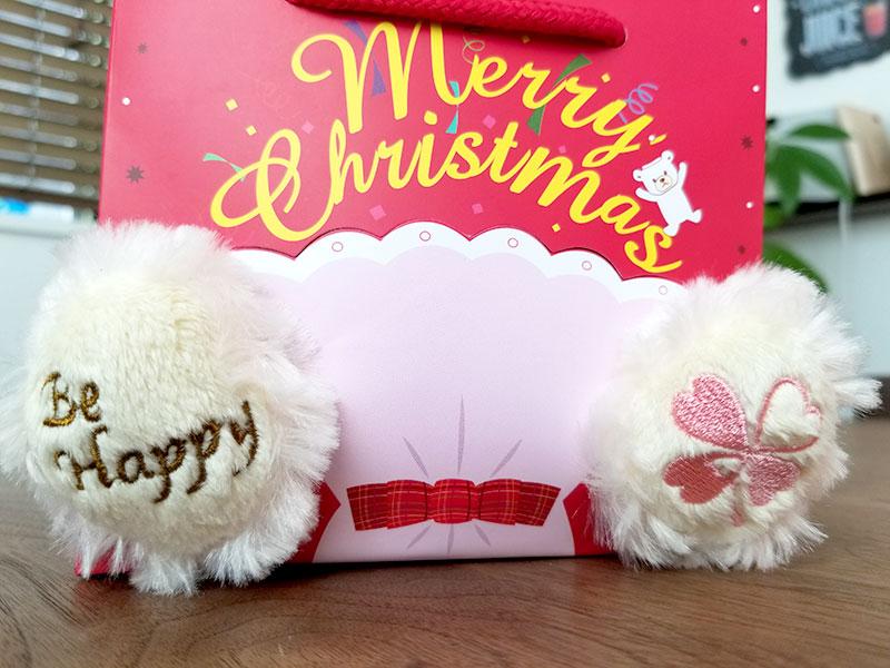 Jwell クリスマス限定 テディベア&シルバーネックレスのギフトセット ベアの足の裏
