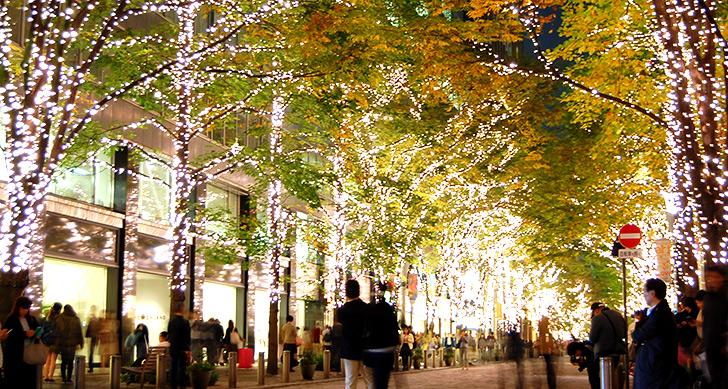 クリスマス 街中 散歩 デート