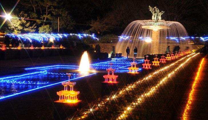 昭和記念公園 クリスマスイルミネーション