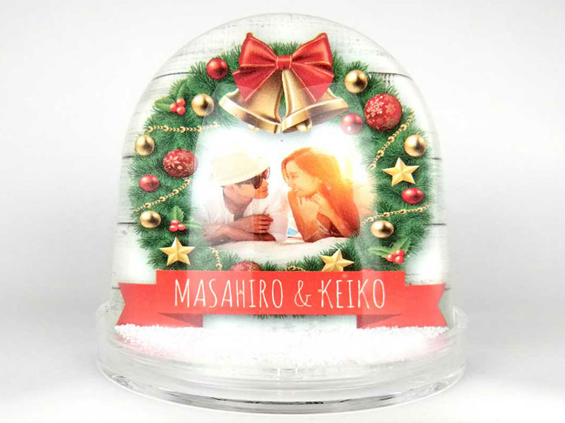 フォトメッセージスノードーム*クリスマスデザイン* 表面