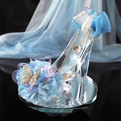 シンデレラのガラスの靴・プリンセスブルー プロポーズギフト