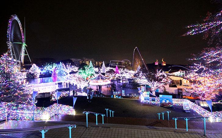 よみうりランドのクリスマスイルミネーション「ジュエルミネーション」