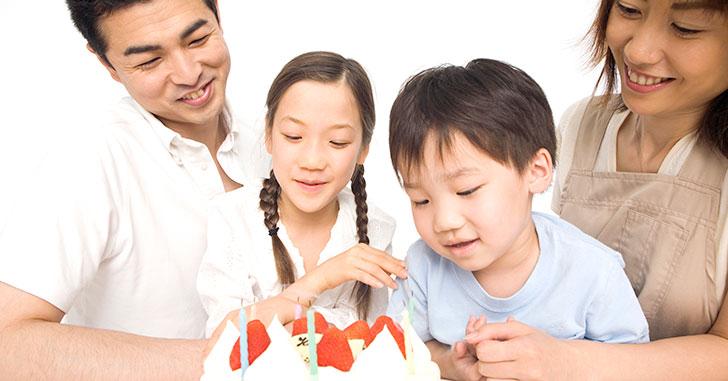 家族で祝う誕生日