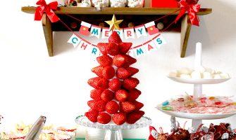 いちごタワーの作り方〜苺だけで作るクリスマスツリー!