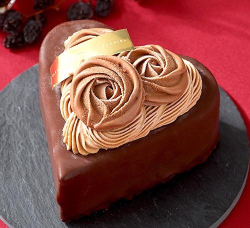 ルタオ クールド ブーケ ハート型のバレンタインアイスケーキ