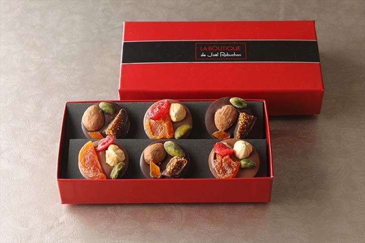 マンディアン2種6個入 Mendiant Chocolates, 6 pieces/ジョエル・ロブション