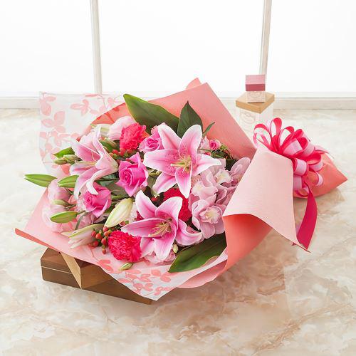 花束「ボヌール~華やかな贈り物~」卒業祝いの花束