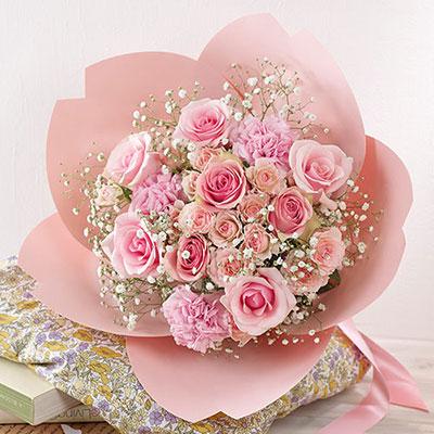 桜の形をした花束・桜ペタロ「さくら咲く」 卒業祝いのプレゼント