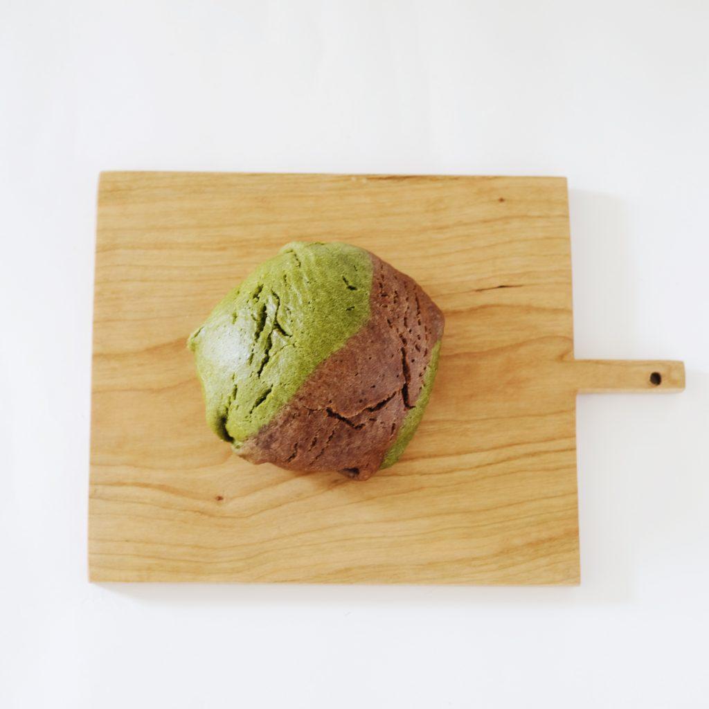 べじぱん市 「きまぐれ酵母 ぶんぱん」 抹茶ショコラメロンパン