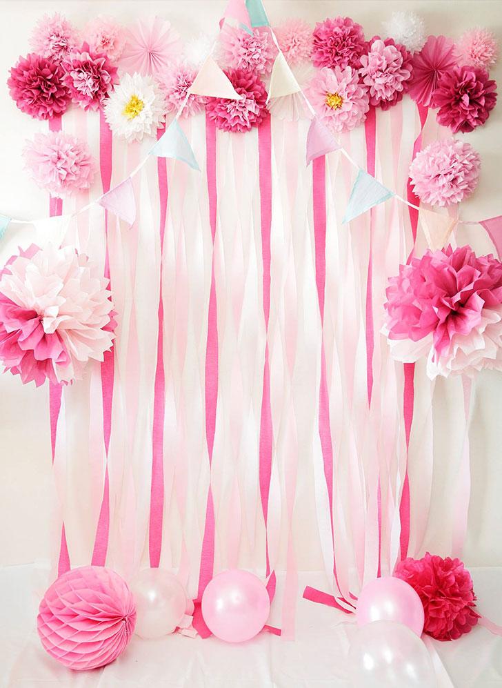 ピンクの素敵なフォトブース