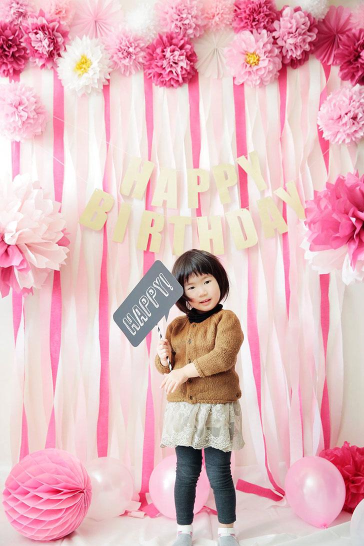 Pink!Pink!春のハッピーフォトブース 子供