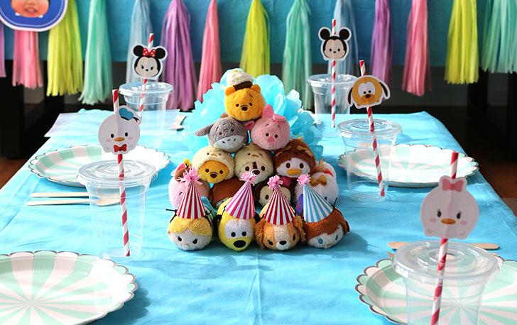 テーブルコーデ ツムツム誕生日パーティー