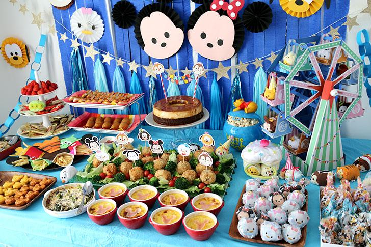 ツムツム誕生日パーティー パーティー料理