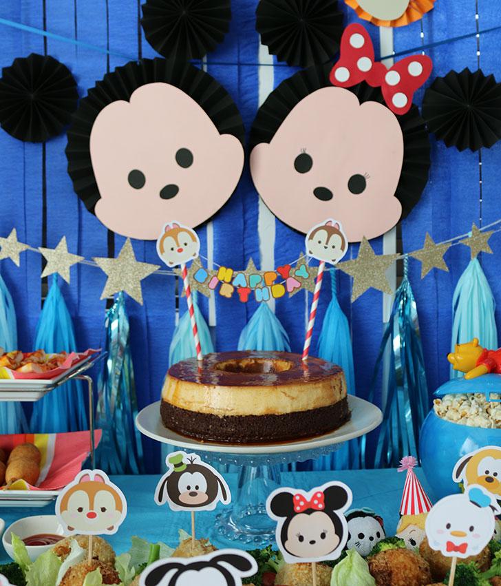 ツムツム誕生日パーティー バースデーケーキ