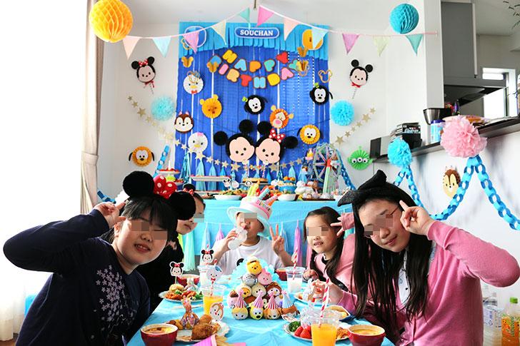 ツムツム誕生日パーティー 誕生日パーティーシーン