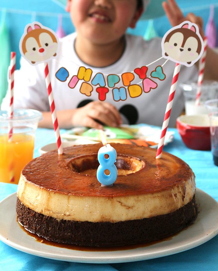 ツムツム誕生日パーティー ブラジルプヂンの誕生日ケーキ