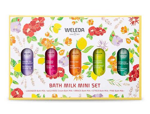 5つの香りを楽しめる「バスミルク ミニセット」
