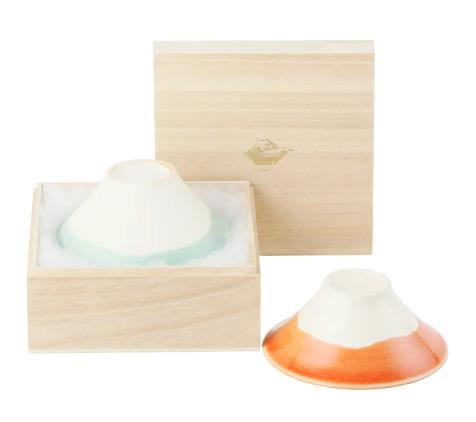 富士山 カップル茶碗 Fuji Wan Couple BL&RD
