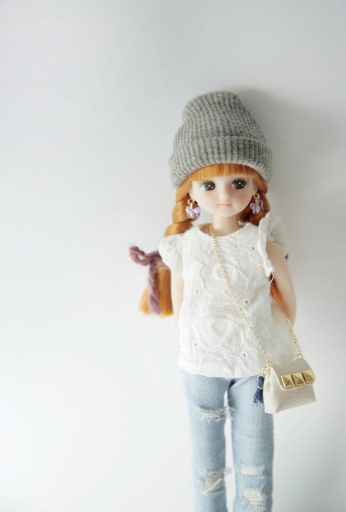 リカちゃん人形用のバッグ作家さんの作品撮影写真