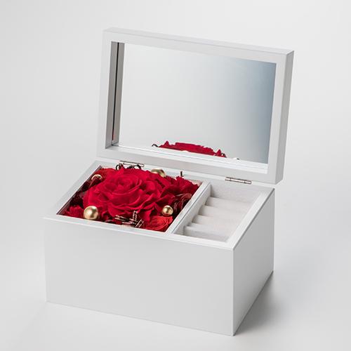 パティスリーフラワー 木製オルゴールジュエリーBOX