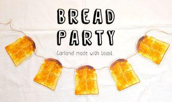 トースト(食パン)のガーランド素材