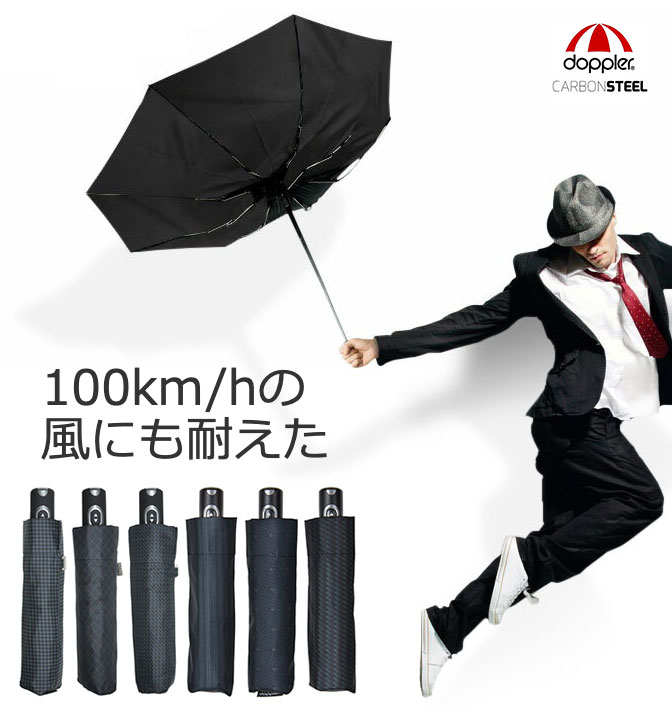 100km/hの風にも耐えた!「doppler 耐風ワンタッチ開閉 折りたたみ傘」