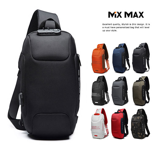 MiX MAX 高機能ボディバッグ