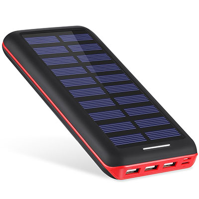 超大容量で太陽光充電もできるモバイルバッテリー「Akeem ソーラーチャージャー22000」