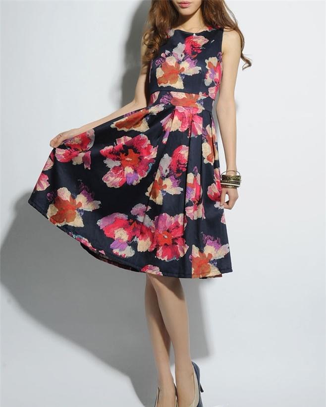 パーティドレス 花柄 グレイスフルスマイル
