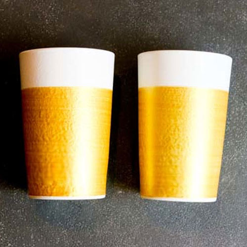ビールと泡の黄金比がデザインされたビールグラス 父の日プレゼント