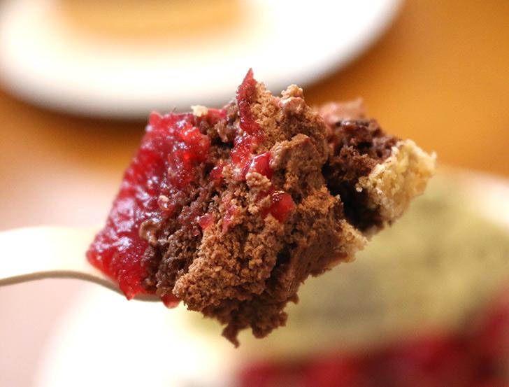 洋菓子店カサミンゴーの「ヴァルトベーレ 木苺チョコレートケーキ」