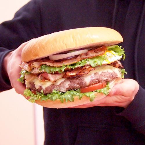 特大・手作りハンバーガーセット