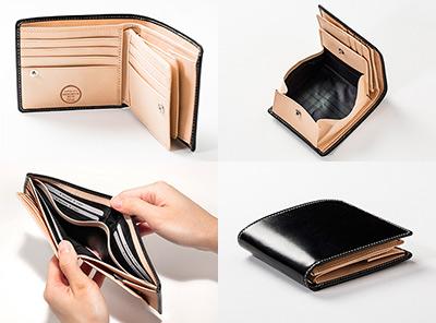 ブライドルレザー二つ折り財布 1,0000円 コスパ最高