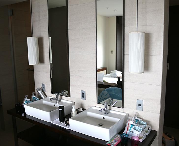 熱海サンビーチ前の眺望最高ホテルミクラス 洗面台