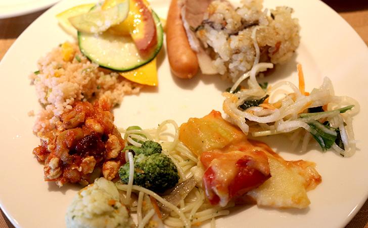 ホテルミクラスの朝食 野菜