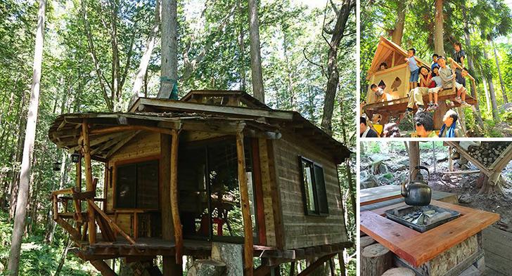千年の森自然学校 ツリーハウス 泊まれるツリーハウス