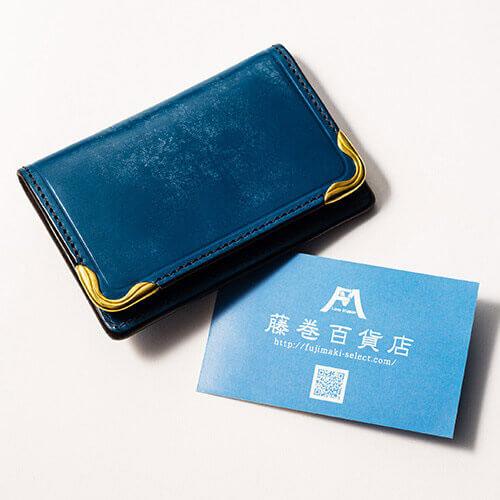 【池之端銀革店】Cramp ブライドルレザー カードケース/名刺入れ