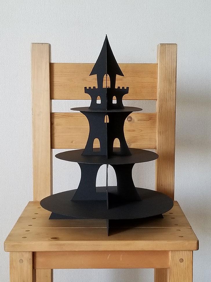 お城の3段ケーキスタンドの作り方