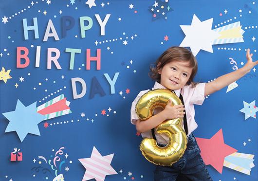 【iesta】Happy Birthday ポップスター ブルー