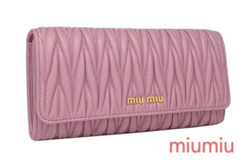 miumiu パステルカラー財布