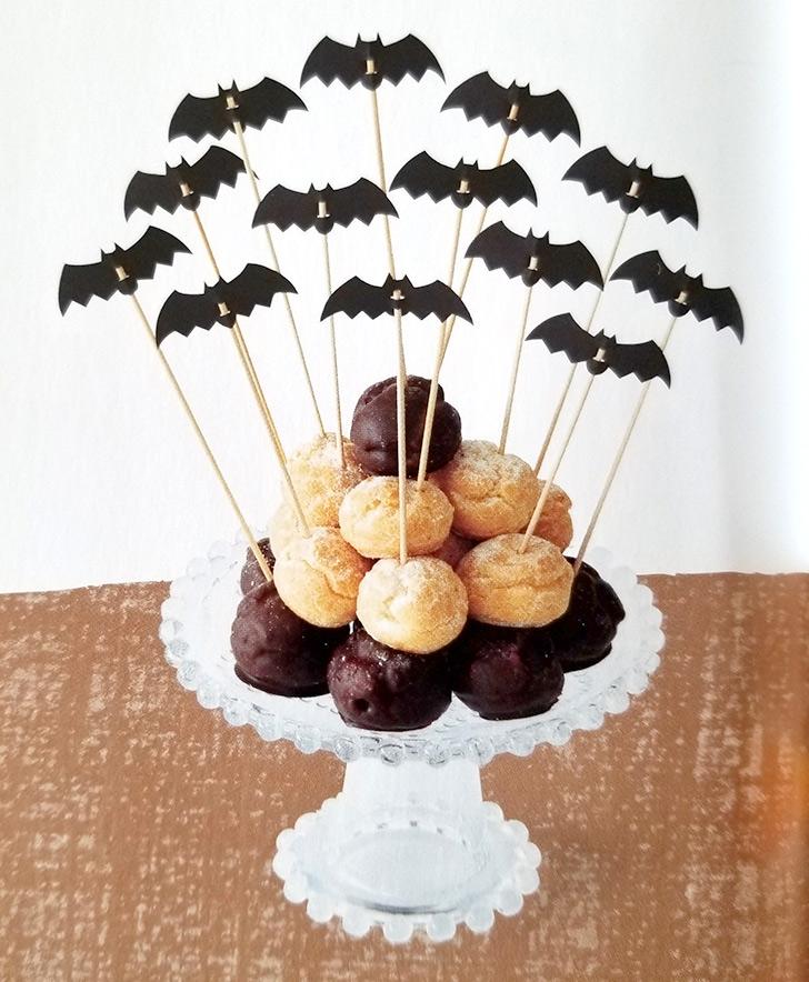 ベネッセ こどもちゃれんじすてっぷ 10月号 きせつのまど ハロウィン こうもりピック シュークリーム