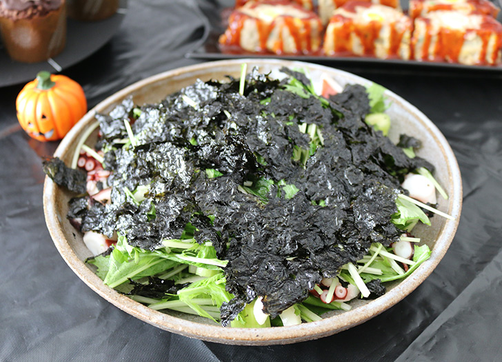 タコとセロリの韓国のりサラダ