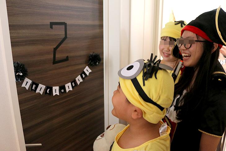 ハロウィンパーティーアクティビティ お部屋を回ってお菓子をゲット!