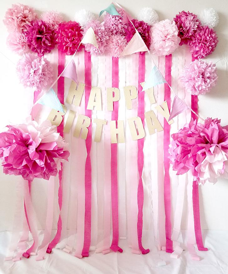 可愛いフォトブース ピンク