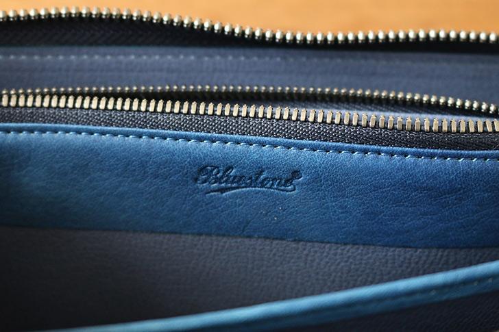 Bluestone(ブルーストーン)スクモレザー ラウンドジップ長財布