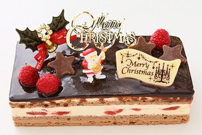 クリスマスケーキ バニラとチョコの極上ブッシュ・ド・ノエル