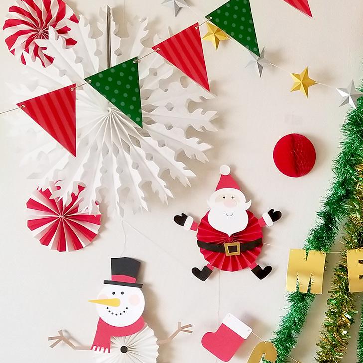 ツリーの周りをデコレーション クリスマスフォトブースの作り方