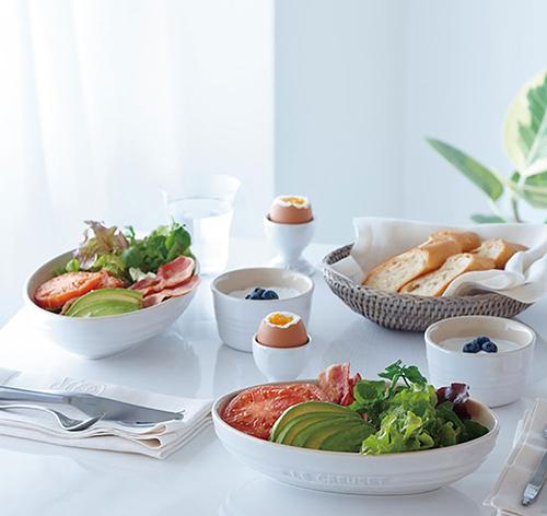 ルクルーゼ ペア テーブルウェア セット 食器セット ホワイトラスター