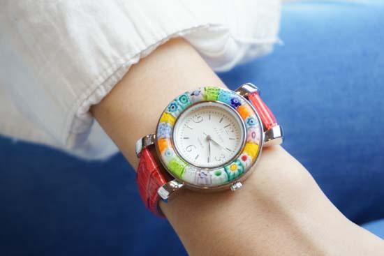 ヴェネチアングラスの腕時計